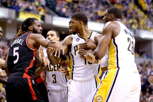 Pacers-Raptors-Fight